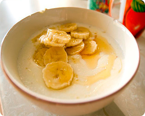 манка с бананом