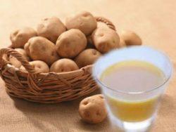 мед и картофельный сок