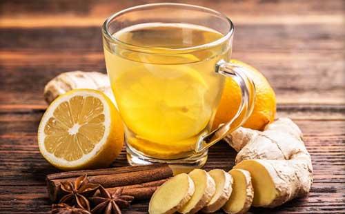 чай с имбирём и лимоном