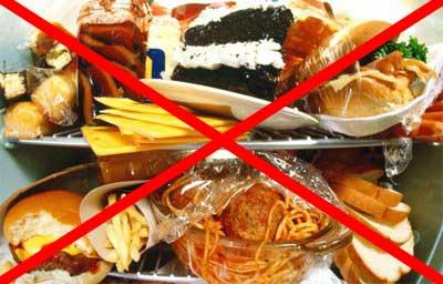 запрет на жирную еду